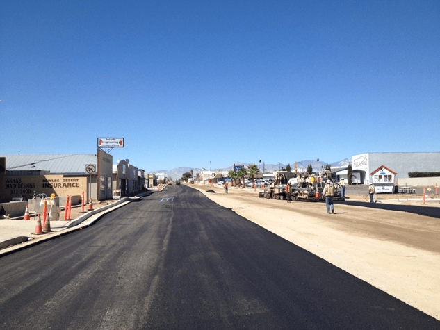Reconstruction of Ridgecrest Boulevard 2014